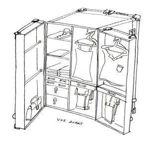 la malle en coin malle dressing armoire commandes sp ciales. Black Bedroom Furniture Sets. Home Design Ideas