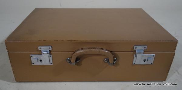 R2024 valise cuir beige