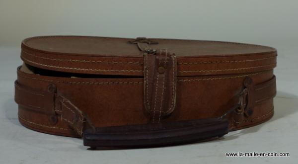R1464 boite chapeau brune