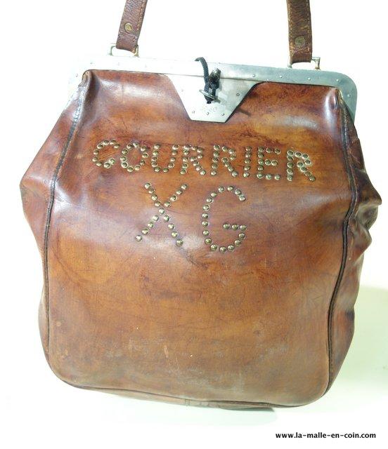R2168 Leather postal or bank bag