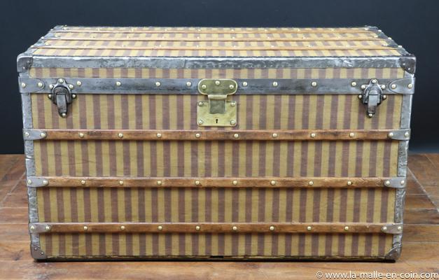Malle courrier rayures beiges R2383