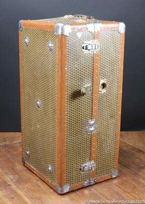 Monogrammed wardrobe trunk by Moynat R2440