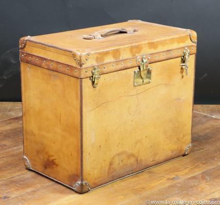 Louis Vuitton leather trunk