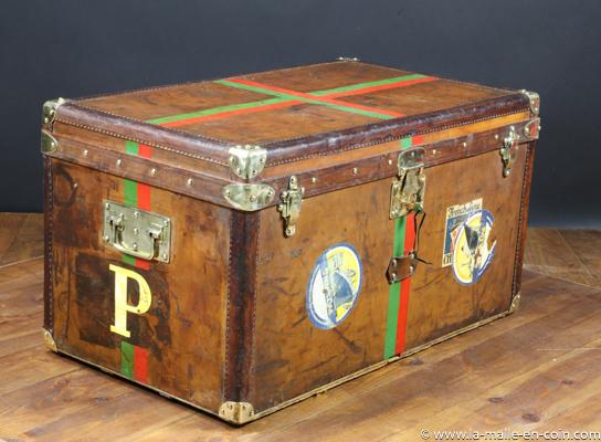 Malle courrier cuir avec clef - marquise De Preaulx ref R2326