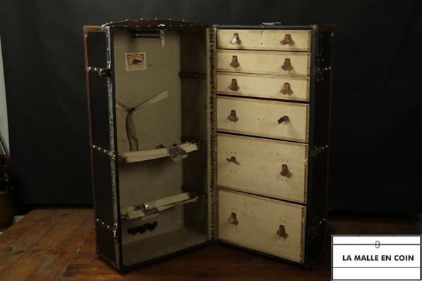 Malle armoire Moynat  noire de 1917  - R2768