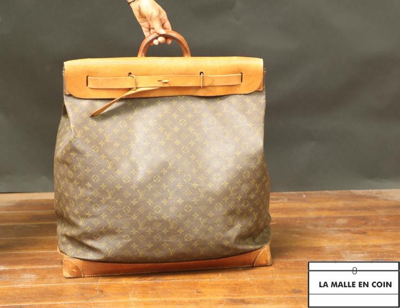 Sac  Steamer Bag  Cuir et toile monogram R2669
