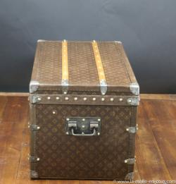Louis Vuitton steamer trunk with stenciled monogram