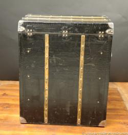 Louis vuitton black canvas  commod  trunk
