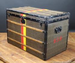 Goyard tall steamer trunk